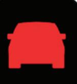 מובילאיי סימן התנגשות רכב אדום